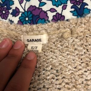 Garage Sweaters - Garage oatmeal v neck sweater like new